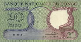 Kongo / Congo P.004a 20 Francs 15.7.1962 (1-)