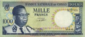 Kongo / Congo P.008 1000 Francs 15.10.1961 (2)