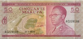 Kongo / Congo P.011a 50 Makuta 21.1.1970 (2)