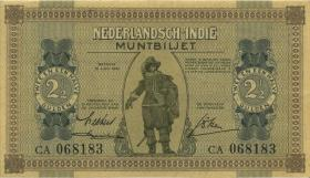 Ndl. Indien / Netherlands Indies P.109a 2 1/2 Gulden 1940 (2+)
