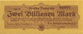 RVM-21 Reichsbahn Berlin 2 Billionen Mark 1923 (2)