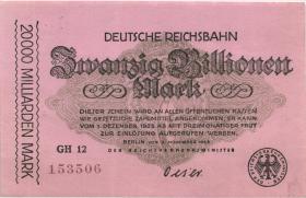 RVM-19 Reichsbahn Berlin 20 Billionen Mark 1923 (1/1-)