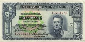 Uruguay P.36b 5 Pesos L. 1939 (2)