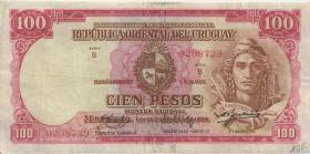 Uruguay P.39a 100 Pesos L. 1939 Serie B (3)