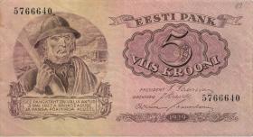 Estland / Estonia P.62a 5 Kronen 1929 (3+)