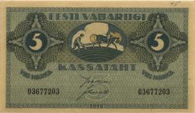 Estland / Estonia P.45 5 Marka (1919) (1/1-)