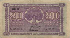 Finnland / Finland P.071 20 Markkaa 1939 (3)