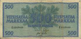 Finnland / Finland P.096 500 Markkaa 1956 (3/4)