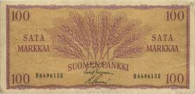 Finnland / Finland P.097 100 Markkaa 1957 (3)