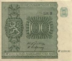 Finnland / Finland P.088 100 Markkaa 1945 (1948) (2)