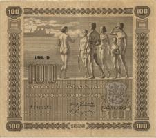 Finnland / Finland P.073 100 Markkaa 1939 A (3+)