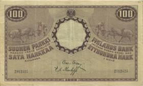 Finnland / Finland P.022 100 Markkaa 1909 (1918) (3)