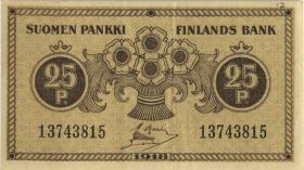 Finnland / Finland P.033 25 Penniä 1918 (3+)