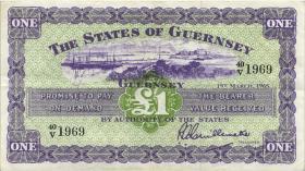 Guernsey P.43b 1 Pound  1965 (3+)