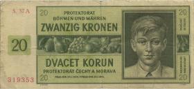 R.563g: Böhmen & Mähren 20 Kronen 1944 A (4)