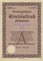Steuergutschein 1000 Reichsmark 1937 (1945) (1-)
