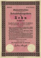 Ehestandsdarlehen 10 Reichsmark 1933 (1-)