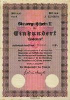 R.723k: Steuergutschein II 100 Reichsmark 1939 (Nov 1942) (2)