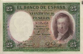 Spanien / Spain P.081 25 Pesetas 1931 (3)
