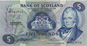 Schottland / Scotland P.112c 5 Pounds 1974 (3+)