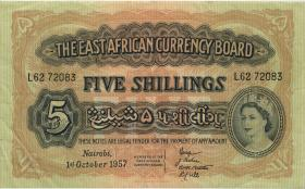 Ost Afrika / East Africa P.33 5 Shillings 1.10.1957 (3)