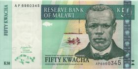 Malawi P.45a 50 Kwacha 2001 (1)