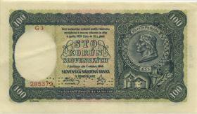 Slowakei / Slovakia P.11s 100 Korun 1940 Specimen (2)