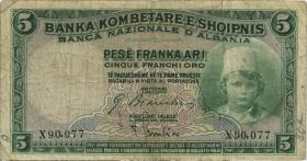 Albanien / Albania P.02 5 Franka Ari (1926) (4)
