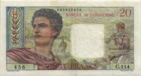Tahiti P.21c 20 Francs (1963) (3)