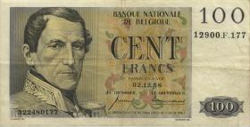 Belgien / Belgium P.129c 100 Francs 1958 (3)