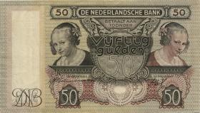 Niederlande / Netherlands P.058 50 Gulden 1941 (3)