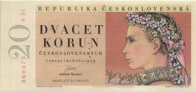 Tschechoslowakei / Czechoslova0kia P.70bs 20 Kronen 1949 Specimen (1)