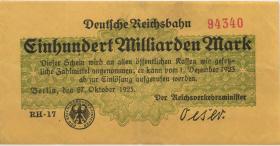 RVM-14a Reichsbahn Berlin 100 Milliarden Mark 1923 (3)