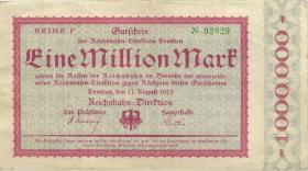 PS1172a Reichsbahn Dresden 1 Millionen Mark 1923 (3)