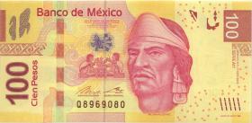 Mexiko / Mexico P.124ah 100 Pesos 2013 Serie AH (1)