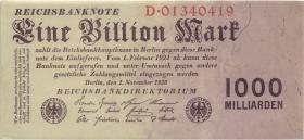 R.126a: 1 Billion Mark 1923 (1/1-) Reichsdruck