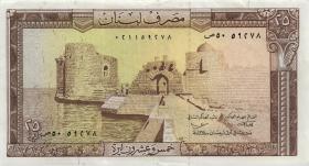 Libanon / Lebanon P.64b 25 Livres 1978 (3)