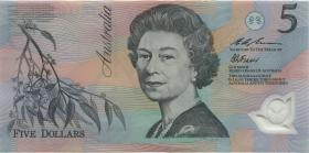 Australien / Australia P.51a 5 Dollars (19)94 Polymer (1) red serial no.