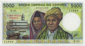 Komoren / Comoros P.12b 5000 Francs (1984-) (1)
