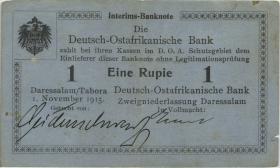 R.914a: Deutsch-Ostafrika 1 Rupie 1915 A (3+)