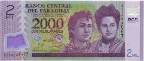 Paraguay P.228b 2000 Guaranies 2009 Polymer (1)