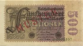 R.109M: 500 Mill. Mark 1923 MUSTER (1-)
