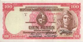 Uruguay P.43 100 Pesos L. (1967) (2+)