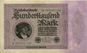 R.082b: 100.000 Mark 1923 T Nr.00000106 (2)