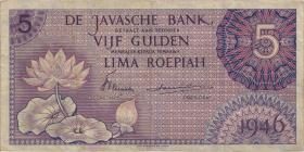 Ndl. Indien / Netherlands Indies P.087 5 Gulden 1946 (3)