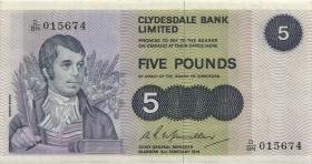 Schottland / Scotland, Bank of Scotland P.205c 5 Pounds 1976 (2+)