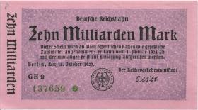 RVM-11 Reichsbahn Berlin 10 Milliarden Mark 1923 (1/1-)