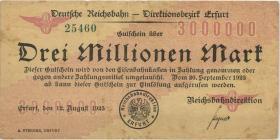 PS1202 Reichsbahn Erfurt 3 Millionen Mark 1923 (3)