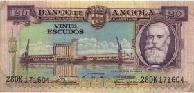 Angola P.087 20 Escudos 1956 (3+)
