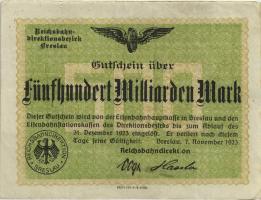 PS1141 Reichsbahn Breslau 500 Milliarden Mark 1923 (3)